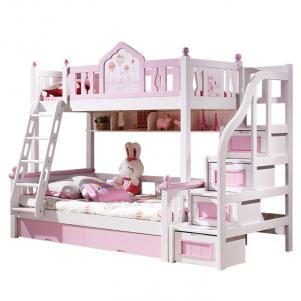 粉色时光卧室二层床