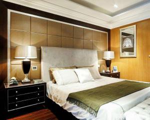 室内设计主卧室的床
