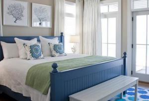 地中海风格小卧室床
