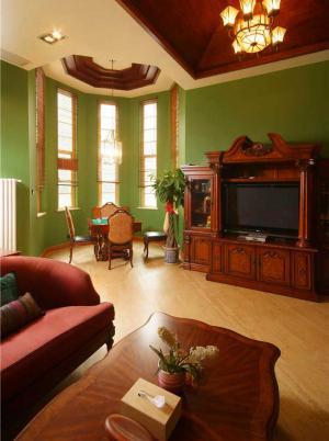 实木客厅家具实拍图