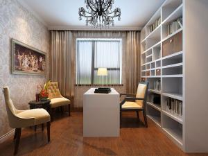 复式设计简欧书房装修效果图