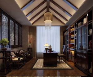 中式书房装修效果图装饰品
