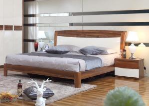 现代风格双人卧室床