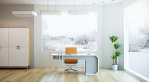 纯色书房装饰设计