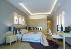 现代日式卧室装修效果图