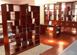 错层式新中式书柜