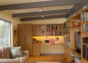 日式风格转角书柜