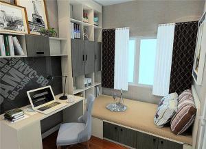 个性卧室书桌