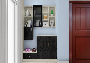 时尚墙体鞋柜图片