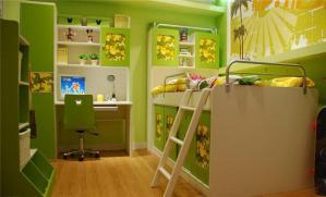 清新儿童房书柜