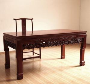 中式书桌实拍图