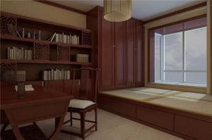 中式风格阳台书柜