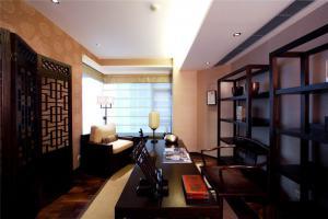 中式书柜欣赏图