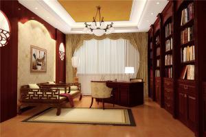 客厅中式书柜