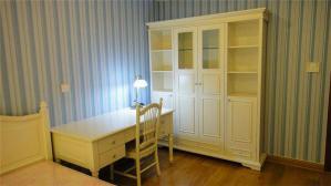 欧洲卧室书柜书桌组合