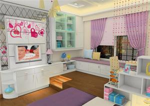 粉色榻榻米书桌