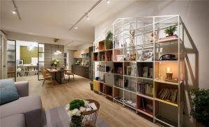 韩式小清新客厅书柜墙