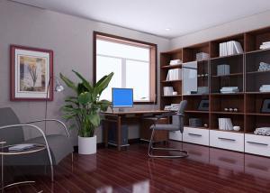 商务风格书柜设计图