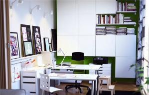 现代风格书柜设计图