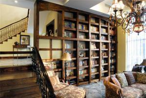 豪华客厅书柜