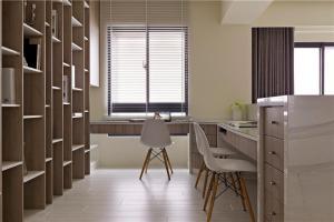 日式原木色拐角书桌