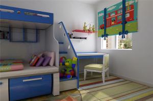 紧凑型儿童床书桌