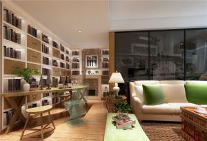 日式客厅书柜墙