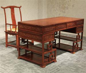 中式书桌效果图
