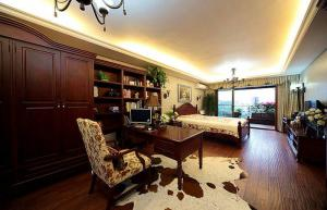 美式复古卧室书柜