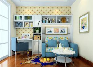 蓝色简约创意书桌