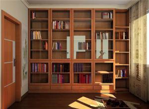 卧室中式书柜墙