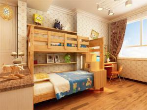 实木儿童床书桌