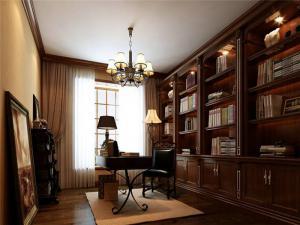 古韵风欧式书桌书柜组合