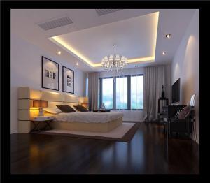 欧式奢华带飘窗的卧室装修图片
