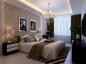 豪华带飘窗的卧室装修图片
