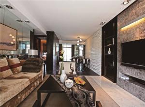 公寓客厅沙发摆放效果图欣赏