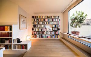雅致客厅书柜墙