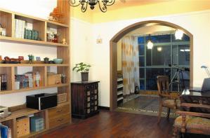 实木客厅书柜