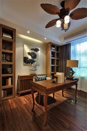 淡雅中式书柜