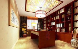 新中式书柜效果图