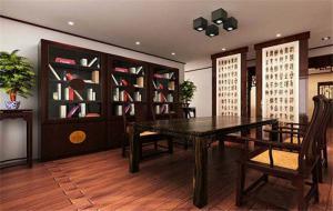 新中式书柜家具设计