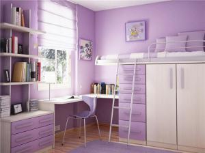 梦幻紫色儿童转角书桌