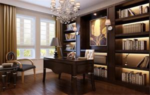 豪华新中式书柜
