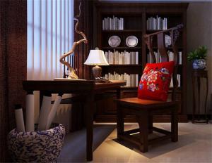 中式书柜家具图库
