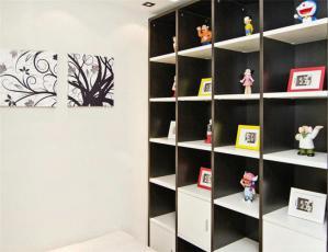 现代黑白家具书柜