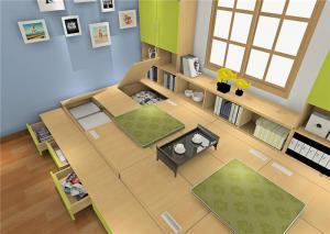 一体式榻榻米书桌