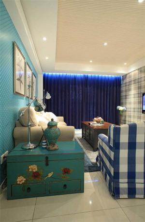 公寓新中式客厅家具图片