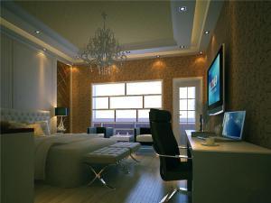 新古典带飘窗的卧室装修图片