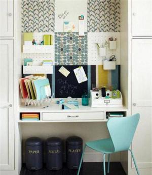 文艺风卧室书桌