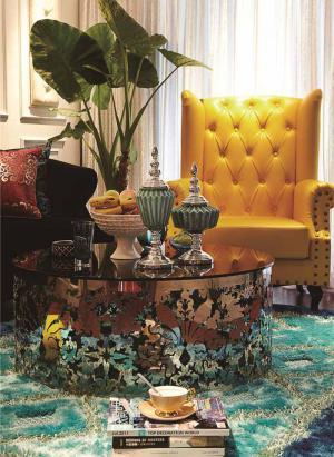 小清新美式客厅家具图片